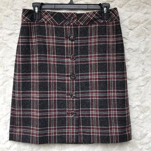 NWT Ann Taylor LOFT Plaid Skirt Sz4